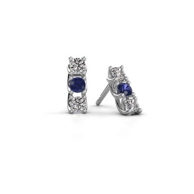 Picture of Earrings Fenna 925 silver sapphire 3 mm