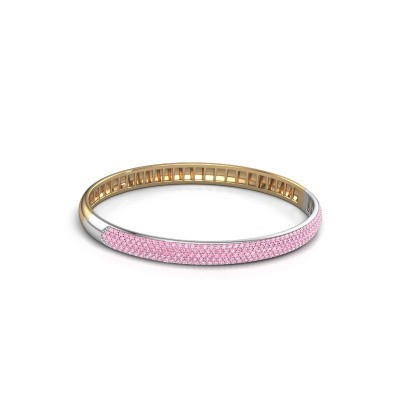 Foto van Armband Emely 6mm 585 goud roze saffier 1.2 mm