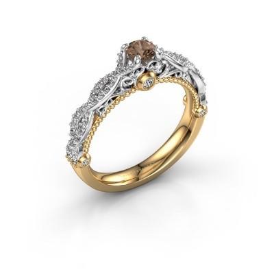 Foto van Verlovingsring Chantelle 585 goud bruine diamant 0.63 crt