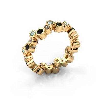 Foto van Ring Tessa 585 goud zwarte diamant 0.783 crt