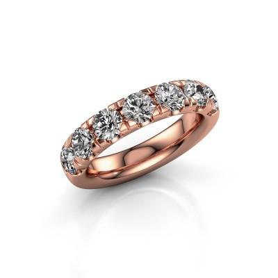 Vorsteckring Jackie Half 375 Roségold Diamant 2.10 crt