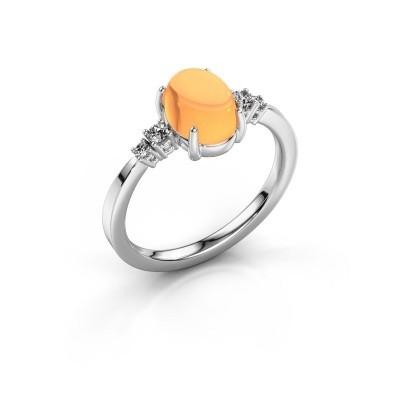 Ring Jelke 925 zilver citrien 8x6 mm