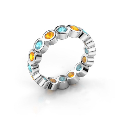 Picture of Stackable ring Edwina 3 585 white gold blue topaz 3 mm