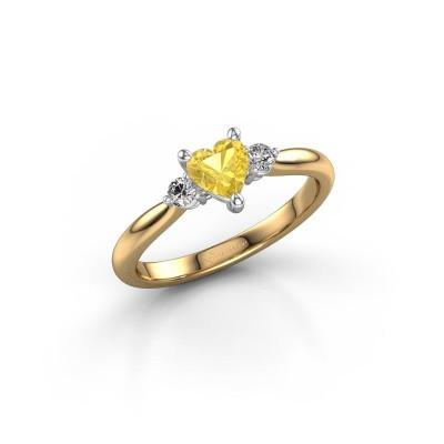 Foto van Verlovingsring Lieselot HRT 585 goud gele saffier 5 mm