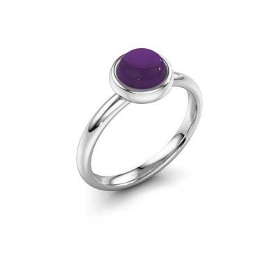 Ring Blossom 925 zilver amethist 6 mm
