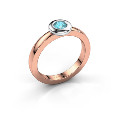 Ring Iris 585 rose gold blue topaz 4 mm