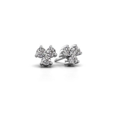 Picture of Stud earrings Shirlee 925 silver zirconia 3 mm
