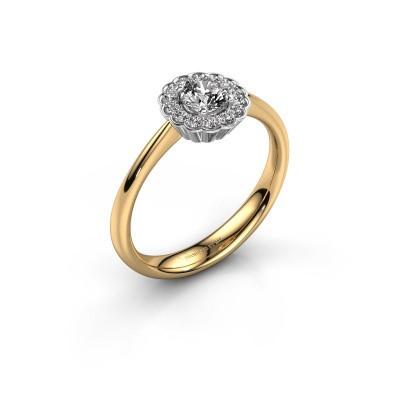 Bague de fiançailles Debi 585 or jaune diamant 0.44 crt