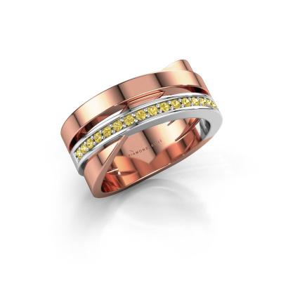 Ring Yolando 585 rose gold yellow sapphire 1.3 mm