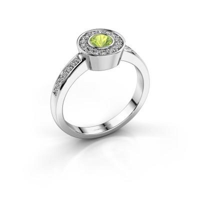 Ring Adriana 2 925 silver peridot 4 mm