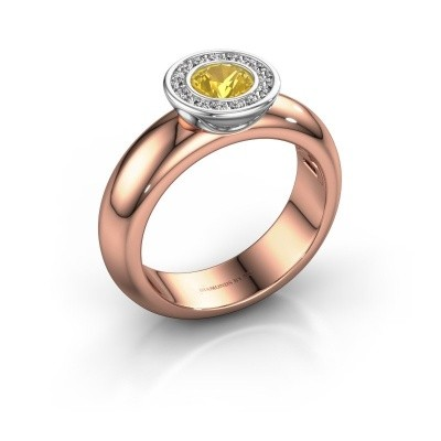 Picture of Stacking ring Anna 585 rose gold yellow sapphire 5 mm