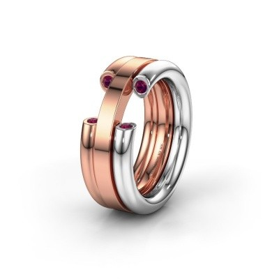 Wedding ring WH6018L 585 white gold rhodolite ±0.31x0.12in