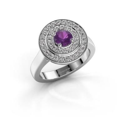 Foto van Ring Alecia 1 925 zilver amethist 5 mm