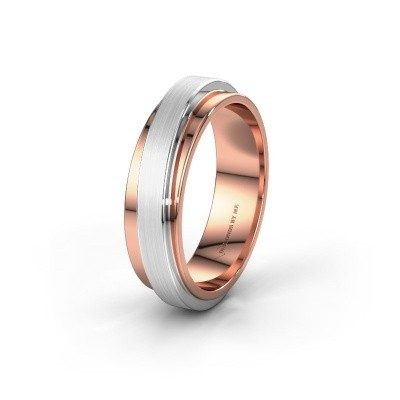 Wedding ring WH2220M16D 585 rose gold ±6x2.4 mm