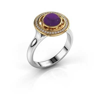 Picture of Ring Salima 585 white gold amethyst 6 mm