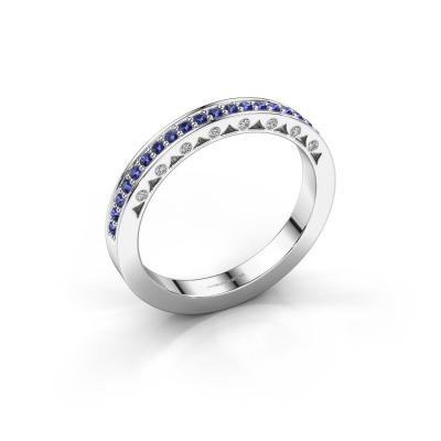 Ring Yasmine 585 witgoud saffier 1.2 mm
