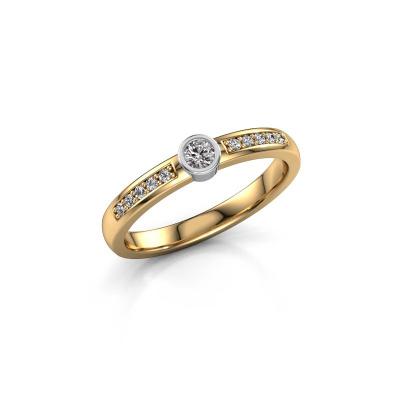 Engagement ring Ise 2 585 gold diamond 0.155 crt