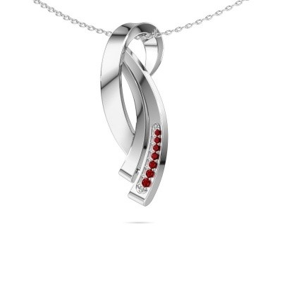 Picture of Necklace Lida 585 white gold ruby 1 mm