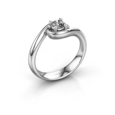 Ring Linn 585 white gold zirconia 4 mm