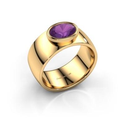 Ring Wilma 1 585 goud amethist 8x6 mm