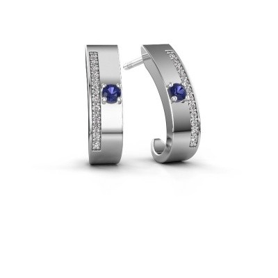 Picture of Earrings Vick1 585 white gold sapphire 2.4 mm