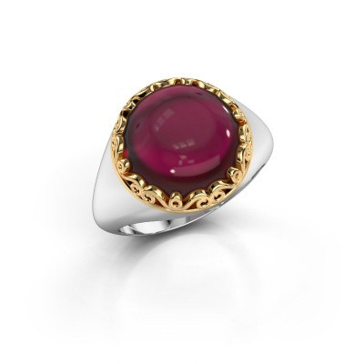 Ring Birgit 585 witgoud granaat 12 mm