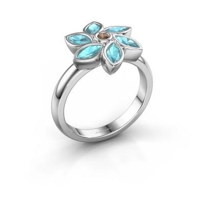 Ring Amina 925 silver brown diamond 0.03 crt