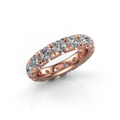 Foto van Aanschuifring Jackie 4.2 375 rosé goud diamant 4.50 crt