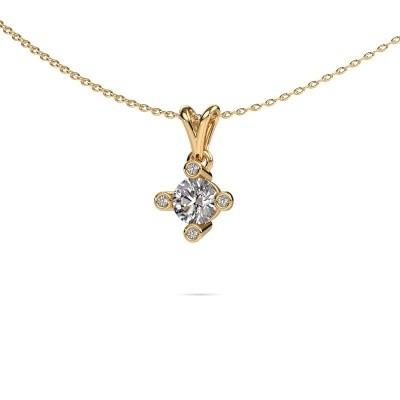 Foto van Hanger Cornelia Round 375 goud diamant 0.62 crt