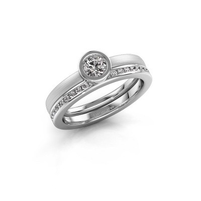 Photo de Bague Cara 585 or blanc diamant 0.69 crt