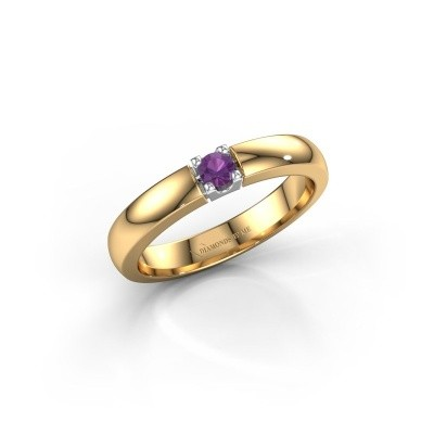 Engagement ring Rianne 1 585 gold amethyst 3 mm