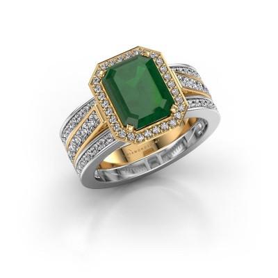 Foto van Ring Dodie 3 585 goud smaragd 9x7 mm