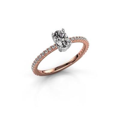 Foto van Verlovingsring Lynelle 2 585 rosé goud diamant 0.50 crt
