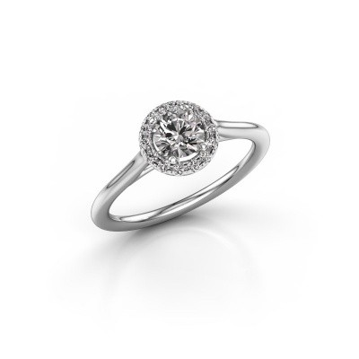 Foto van Verlovingsring Marty 1 585 witgoud diamant 0.605 crt