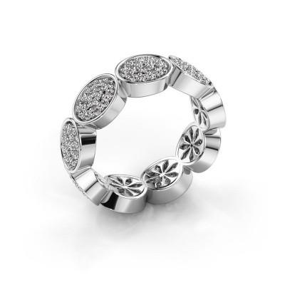 Ring Robin 925 zilver zirkonia 1.2 mm