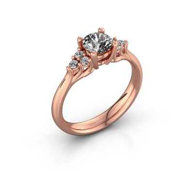 Foto van Verlovingsring Monika RND 375 rosé goud lab-grown diamant 0.75 crt