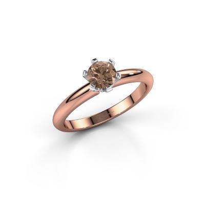 Foto van Verlovingsring Tiffy 1 585 rosé goud bruine diamant 0.50 crt