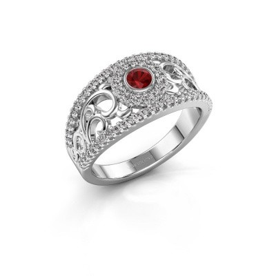 Picture of Ring Lavona 950 platinum ruby 3.4 mm