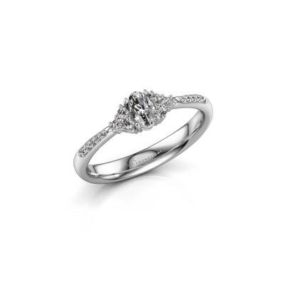 Foto van Verlovingsring Aleida OVL 2 585 witgoud diamant 0.912 crt