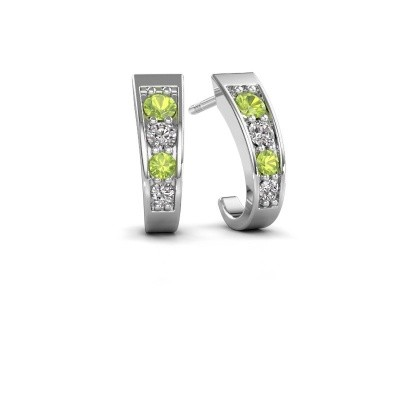 Picture of Earrings Glady 925 silver peridot 3 mm