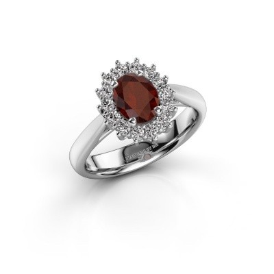 Picture of Engagement ring Margien 1 925 silver garnet 7x5 mm