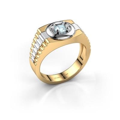 Heren ring Edward 585 goud aquamarijn 4.7 mm