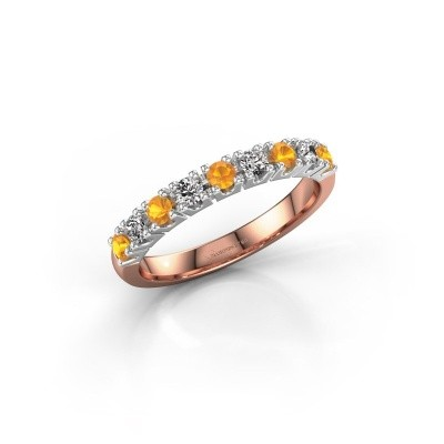Engagement ring Rianne 9 585 rose gold citrin 2.4 mm