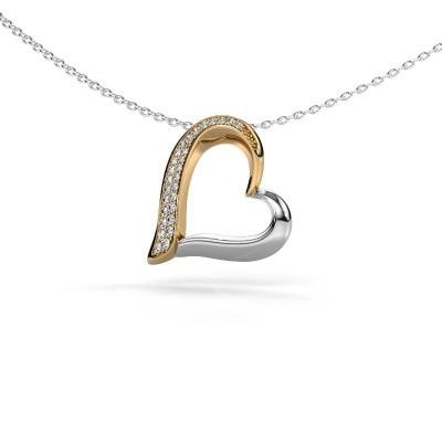 Foto van Halsketting Heart 1 585 goud diamant 0.134 crt