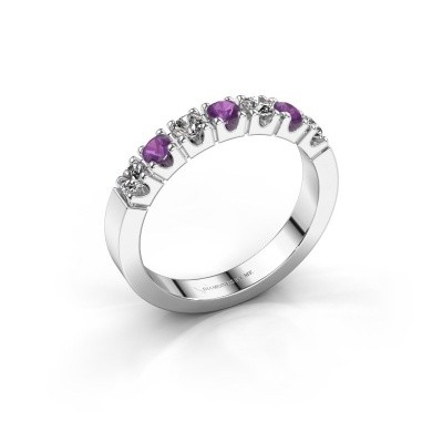 Picture of Engagement ring Dana 7 585 white gold amethyst 2.7 mm