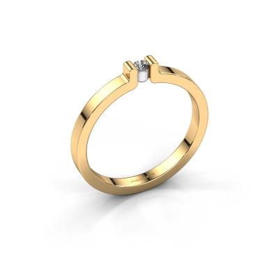 Verlovingsring Isabel 1 585 goud diamant 0.03 crt