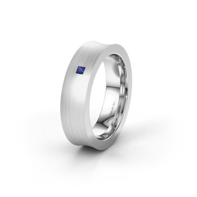 Wedding ring WH2238L2 925 silver sapphire ±6x2.2 mm