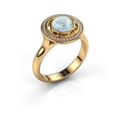 Foto van Ring Salima 585 goud aquamarijn 6 mm