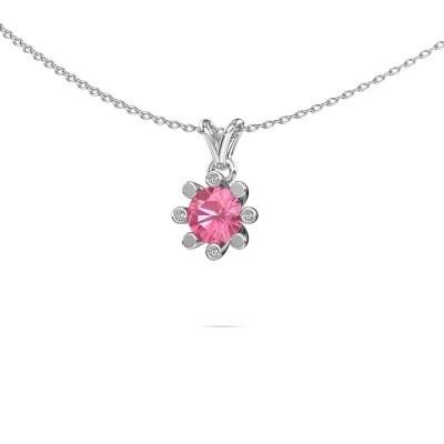 Picture of Pendant Carola 2 950 platinum pink sapphire 6 mm