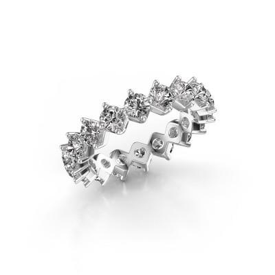Foto van Aanschuifring Janie 3.4mm 585 witgoud diamant 3.00 crt